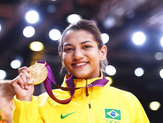 Judoca Sarah Menezes ouro em Londres (Foto: Agência AFP)