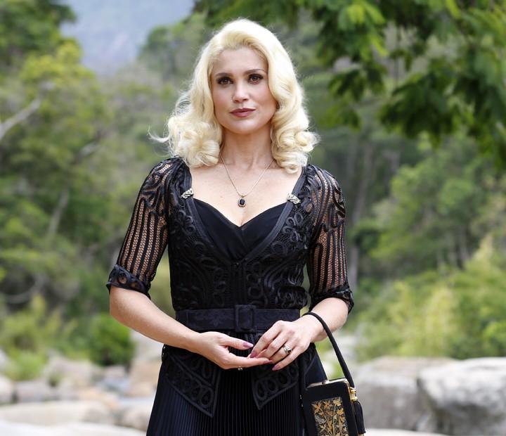 Sandra é a personificação da ganância na trama! (Foto: Ellen Soares/Gshow)