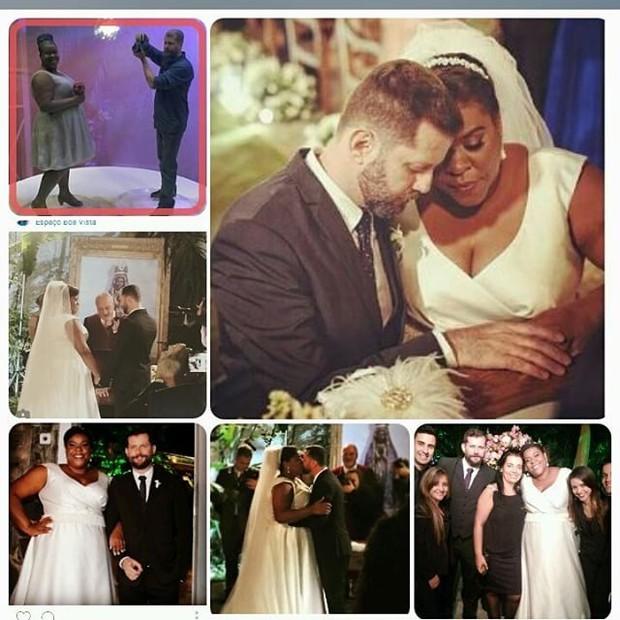 Cacau Protásio faz montagem de fotos do casamento (Foto: Instagram)