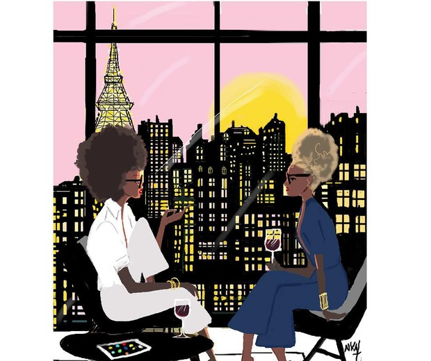 Nicholle Kobi: elegante é compartilhar momentos com as amigas (Foto: Reprodução Instagram)