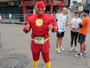 Lobisomem, Homem Aranha e The Flash: os fantasiados dos 10 KM