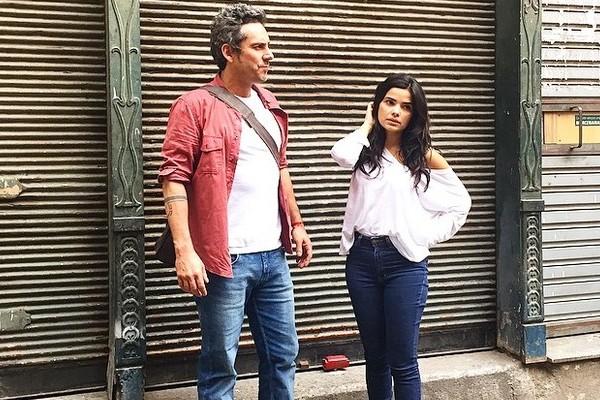 Vanessa Giácomo e Alexandre Nero gravaram cenas da nova novela das 21h (Foto: Marcos Carvalho)
