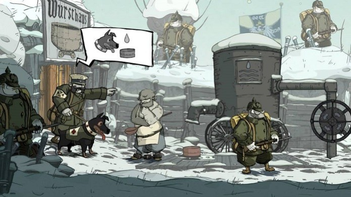 Valiant Hearts: The Great War. Na foto, Emile e o cachorro Walt. (Foto: Divulgação) (Foto: Valiant Hearts: The Great War. Na foto, Emile e o cachorro Walt. (Foto: Divulgação))