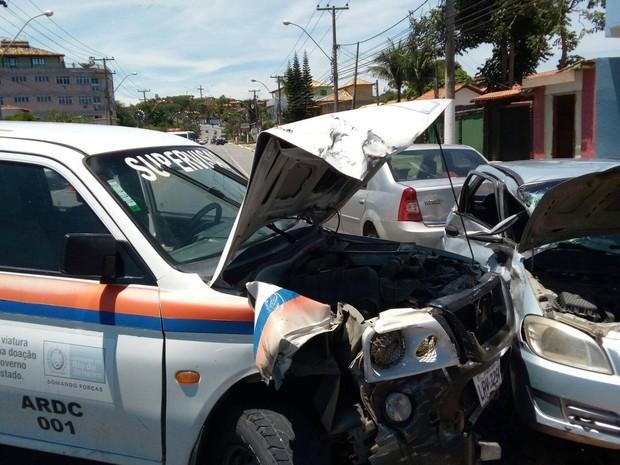 Acidente aconteceu no inicio da tarde deste sábado (Foto  César Henrique  Reis  Divulgação 8144ae475c006