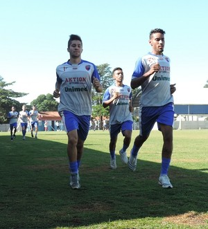 Grêmio Prudente se reapresenta para temporada (Foto: João Paulo Tilio / GloboEsporte.com)