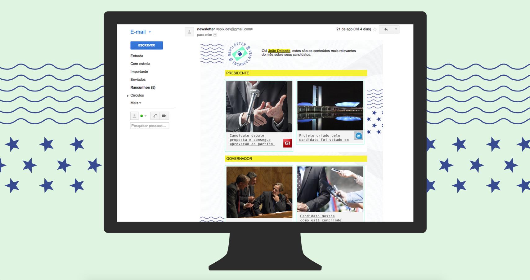 Newsletter chega uma vez por mês e conta com poderosos algoritmos para curadoria de conteúdo (Foto: Divulgação)