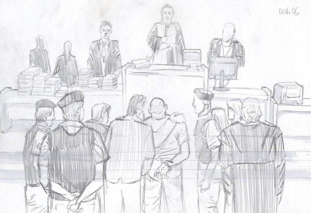 Após cinco dias, jurados consideraram culpados os réus que seguiram no júri (Foto: Leo Aragão/G1)