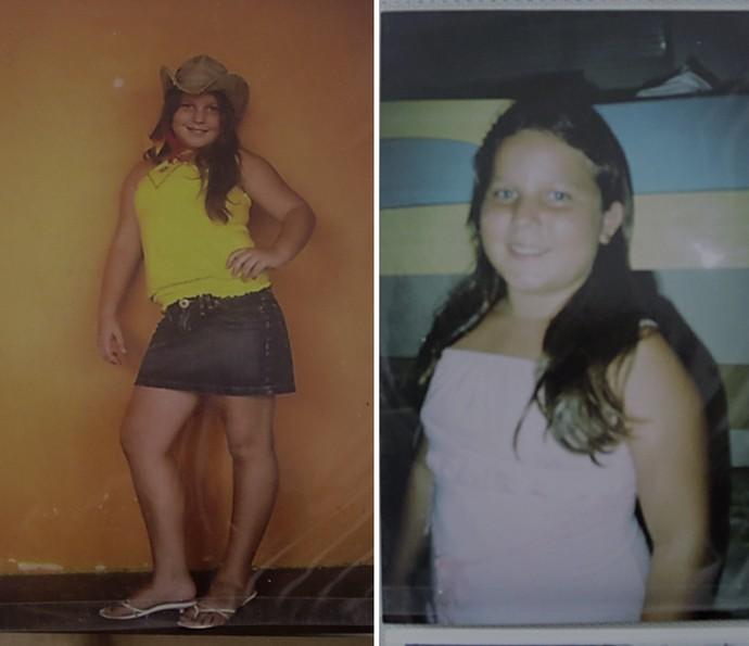 Maria Claudia mostra foto na infância (Foto: Acervo Pessoal)