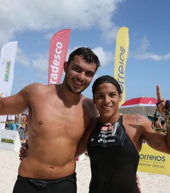 Ana Marcela e Victor Colonese Campeonato Brasileiro de Maratonas Aquáticas (Foto: Satiro Sodre / SSPress / CBDA)