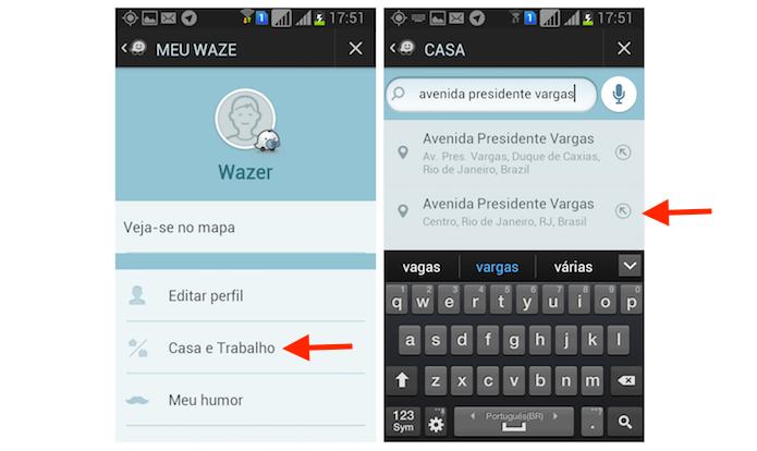 Adicionando um endereço residencial no Waze pelo Android (Foto: Reprodução/Marvin Costa)