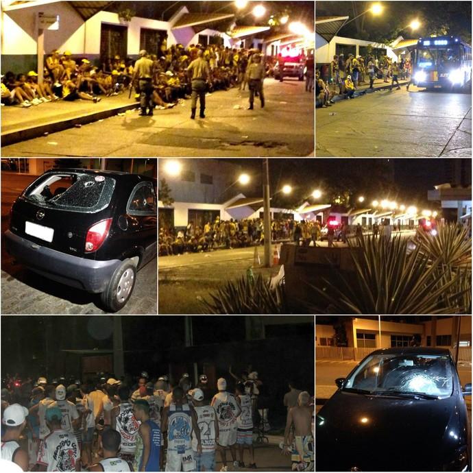 Torcidas de Sport e Santa Cruz promovem tumulto pelas ruas do Recife, após o clássico  (Foto: globoesporte.com/pe)