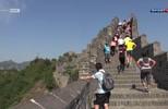Corredores de todos os cantos do mundo participam de maratona na Muralha da China