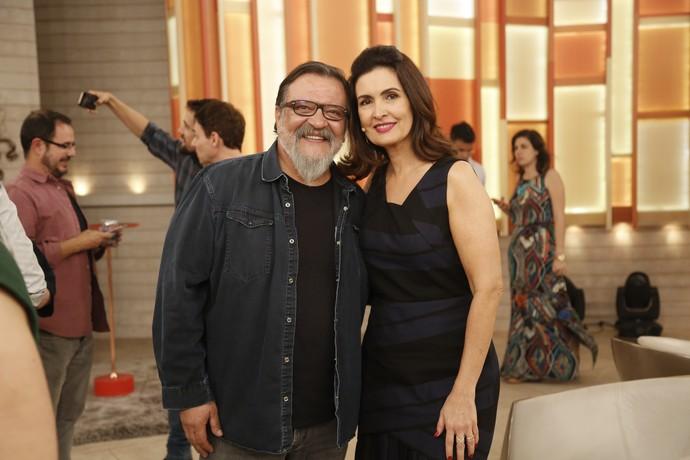 O ator Luis Melo posa com a Fátima  (Foto: Raphael Dias/Gshow)