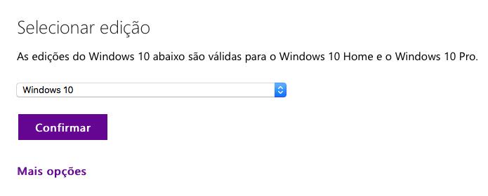 Selecione a edição do Windows 10 (Foto: Reprodução/Helito Bijora)
