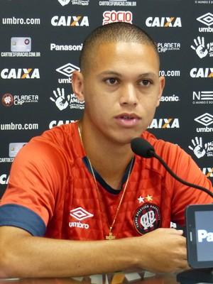 Marcos Guilherme Atlético-PR (Foto: Monique Silva)