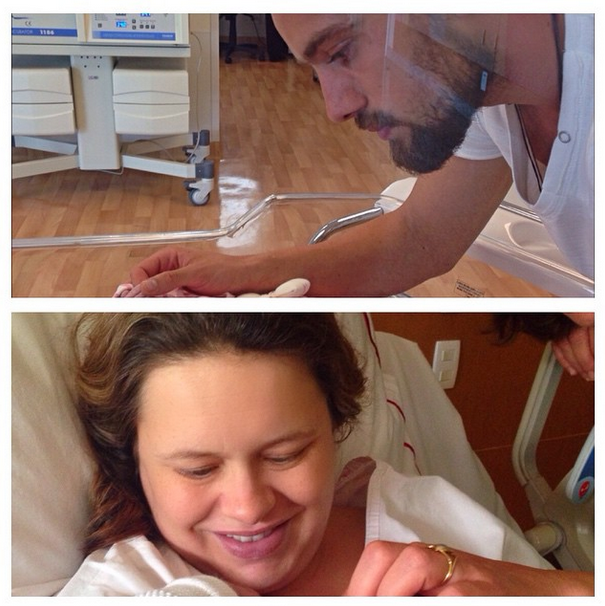Mariana Bridi e Rafael Cardoso na maternidade (Foto: Reprodução/Instagram)