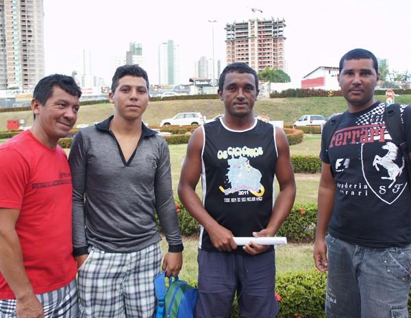 Francisco Amorim, Alex Ramon, Jânio Tavares e Luiz Carlos (Foto: Daniel Peixoto/G1)