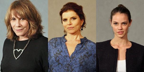 Muitas gerações de atrizes se encontram: a lindas Renata Sorrah, Débora Bloch e Laura Neiva (Foto: Miriam Paço/Nathalia Fernandes/Globo)