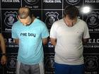 Polícia apresenta suspeitos de explodir caixas eletrônicos em Goiás