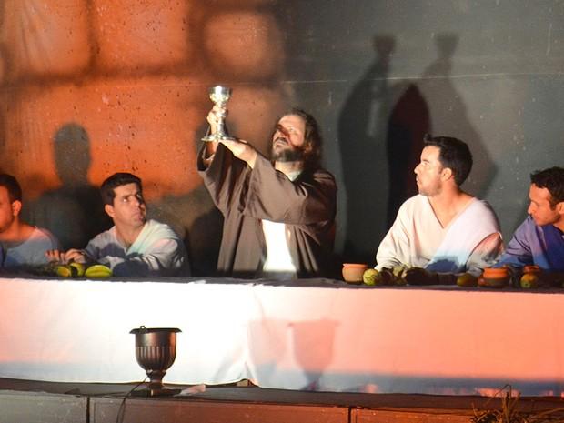 Encenação da Paixão de Jesus Cristo em Araraquara (Foto: Felipe Turioni/G1)