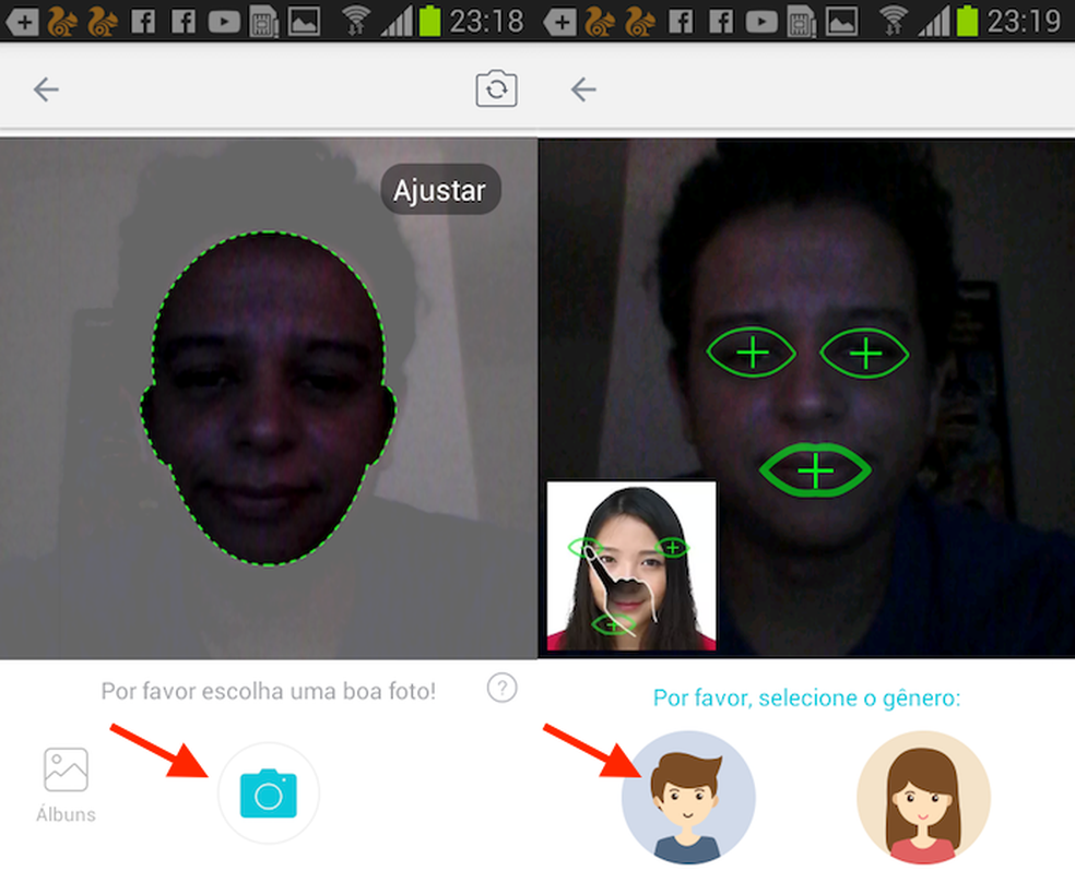 Fazendo uma foto para usar em GIF com o teclado AiMee para iPhone (Foto: Reprodução/Marvin Costa)