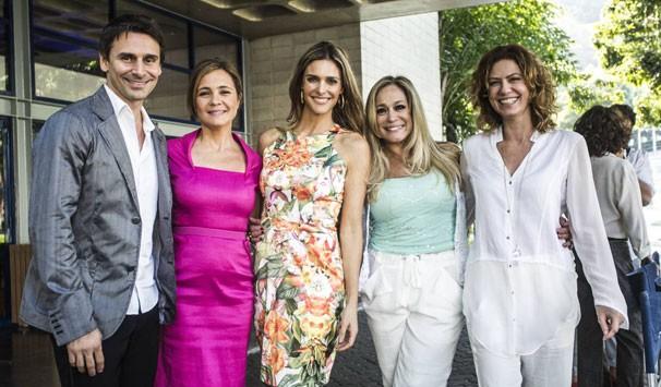 Murilo Rosa, Adriana Esteves, Fernanda Lima, Susana Vieira e Patrícia Pillar (Foto: Raphael Dias/ TV Globo)