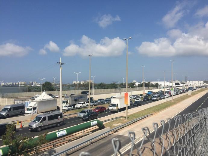 Trânsito no redor do Parque Olímpico é uma das principais preocupações do COI (Foto:  Thierry Gozzer)