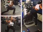 Gracyanne Barbosa deixa a barriguinha de fora em dia de treino