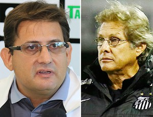 Guto Ferreira x Oswaldo de Oliveira Figueirense e Santos (Foto: Editoria de Arte)