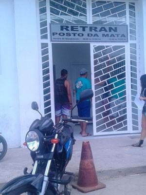 Documentos foram roubados em unidade de trânsito de Nova Viçosa (Foto: Divulgação/Polícia Civil)