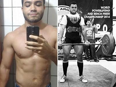 Yuri Furtado, campeão sul-americano de levantamento de peso (Foto: Arquivo Pessoal/Yuri Furtado)