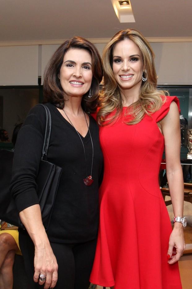 Fátima Bernardes e Ana Furtado (Foto: Alex Palarea/AgNews)