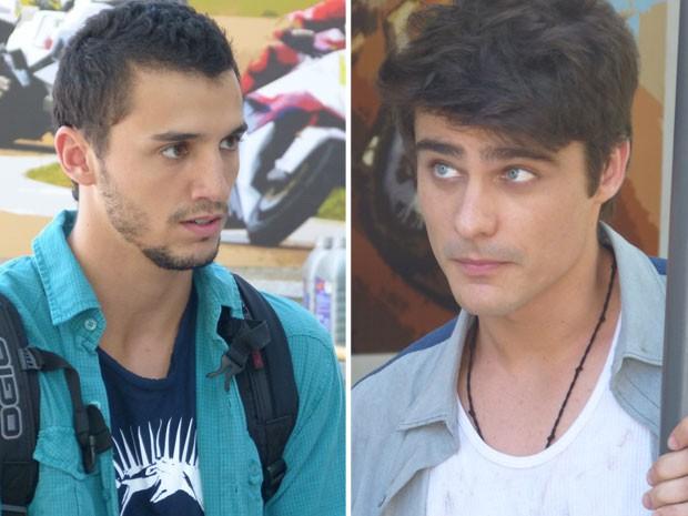 Sal pede para Vitor não entregá-lo para a polícia. O que será que o motoqueiro vai fazer? (Foto: Malhação / Tv Globo)