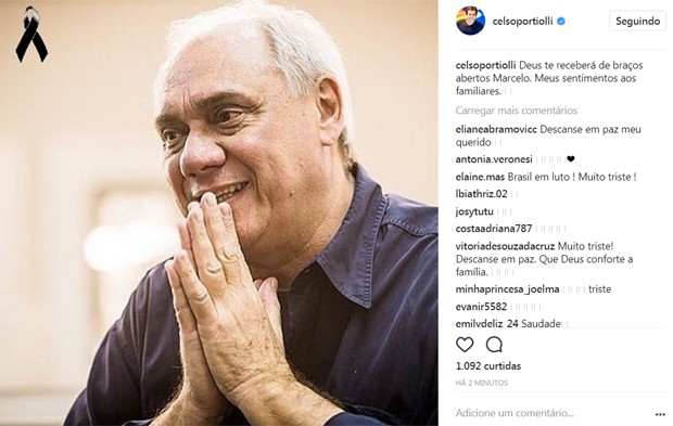 Celso Portiolli lamenta morte de Marcelo Rezende (Foto: Reprodução/Instagram)