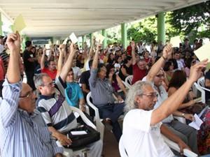 Professores do IFPB entraram em greve em João Pessoa, Paraíba (Foto: Divulgação/Sintef-PB)