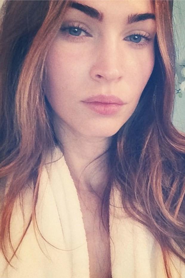 Megan Fox sem maquiagem (Foto: Reprodução)