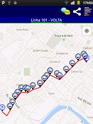 Aplicativo informa linhas de ônibus de Cuiabá (Foto: Divulgação/Datalab)