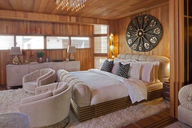 Casa de praia dourada Kelly Wearstler (Foto: G Crawford/ divulgação)