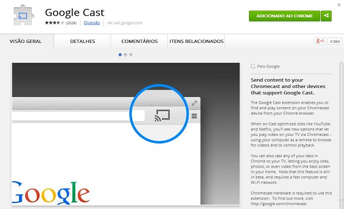 Instale o Google Cast (Foto: Thiago Barros/TechTudo)