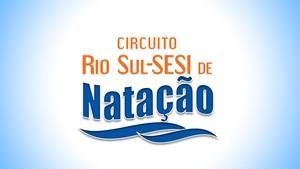 Circuito Rio Sul Sesi de Natação 2015 (Foto: Arte/TV Rio Sul)