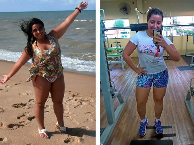 'Eu não me vi engordando. Eu me descobri obesa', afirma Juliana (Foto: Arquivo pessoal/Juliana Crisóstomo)