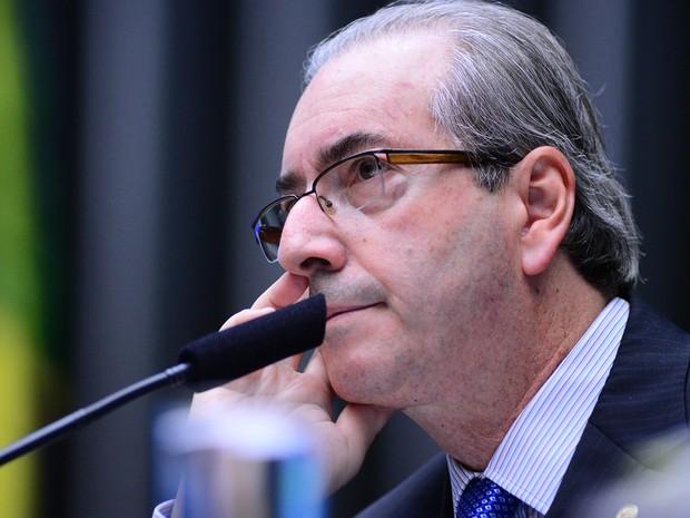 Eduardo Cunha presidiu sessão da Câmara horas antes de o STF concluir julgamento que o torna réu na Lava Jato (Foto: Nilson Bastian / Câmara dos Deputados)