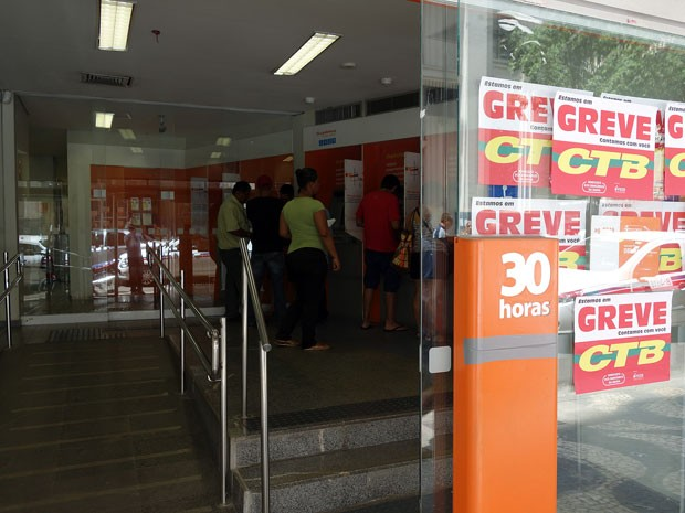 Greve banco BA 04 (Foto: Egi Santana/G1)
