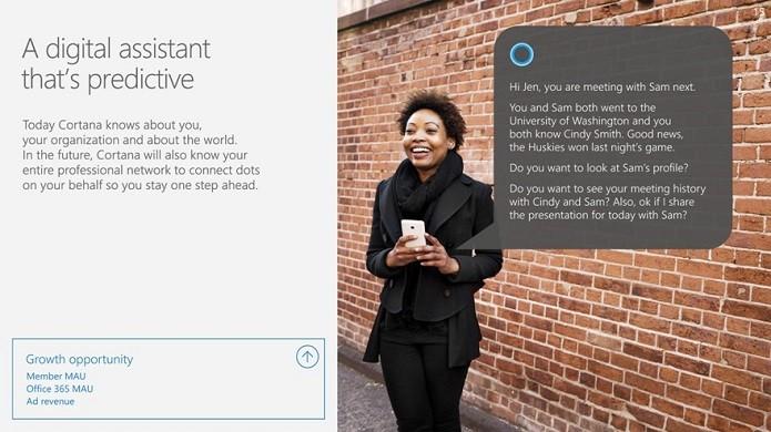 Cortana poderá ser integrada ao LinkedIn (Foto: Reprodução/TechCrunch)