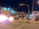 Protesto cobra instalação de lombada eletrônica dois meses após acidente