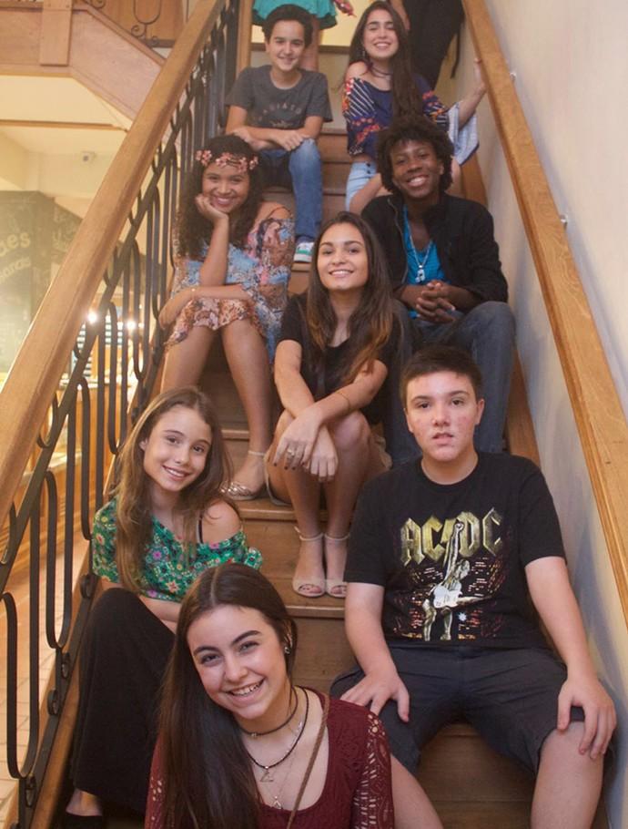 Ex-participantes do The Voice Kids se reencontram no Rio de Janeiro (Foto: Divulgação)