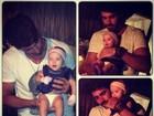 Ex-BBB Adriana se derrete com Rodrigão segurando um bebê