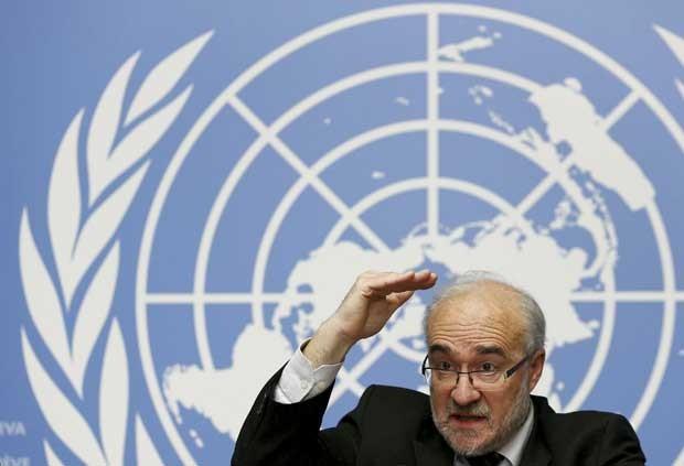 O secretário-geral da Organização Meteorológica Mundial, Michel Jarraud, anuncia o ano  (Foto: Denis Balibouse/Reuters)
