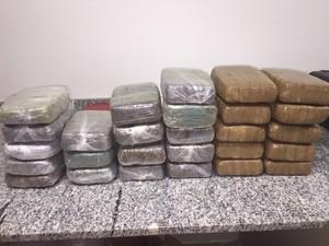Foram apreendidos 30 quilos de maconha pronta (Foto: Divulgação/Polícia Federal)