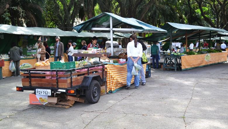 Feira de orgânicos que acontece aos sábados pela manhã no Modelódromo do Ibirapuera (Foto: Marina Salles/ Ed. Globo)